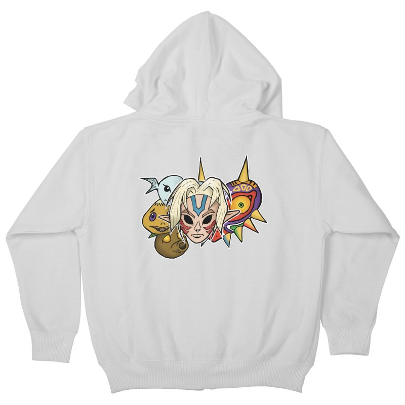 The Major Masks Kids Zip-Up Hoody by Joel Siegel's Artist Shop