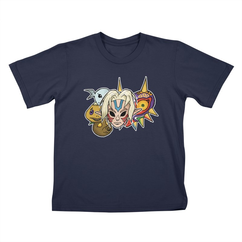 The Major Masks Kids T-Shirt by Joel Siegel's Artist Shop