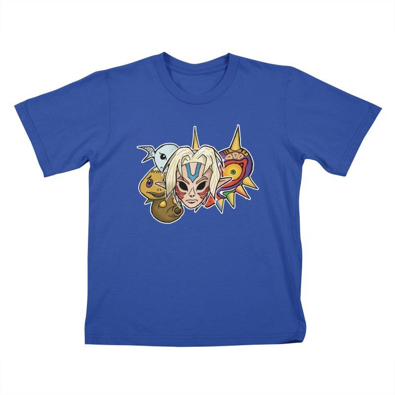 The Major Masks Kids T-Shirt by Joel Siegel's Artist Shop