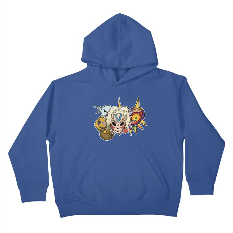 The Major Masks Kids Pullover Hoody by Joel Siegel's Artist Shop