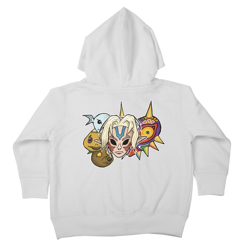 The Major Masks Kids Toddler Zip-Up Hoody by Joel Siegel's Artist Shop
