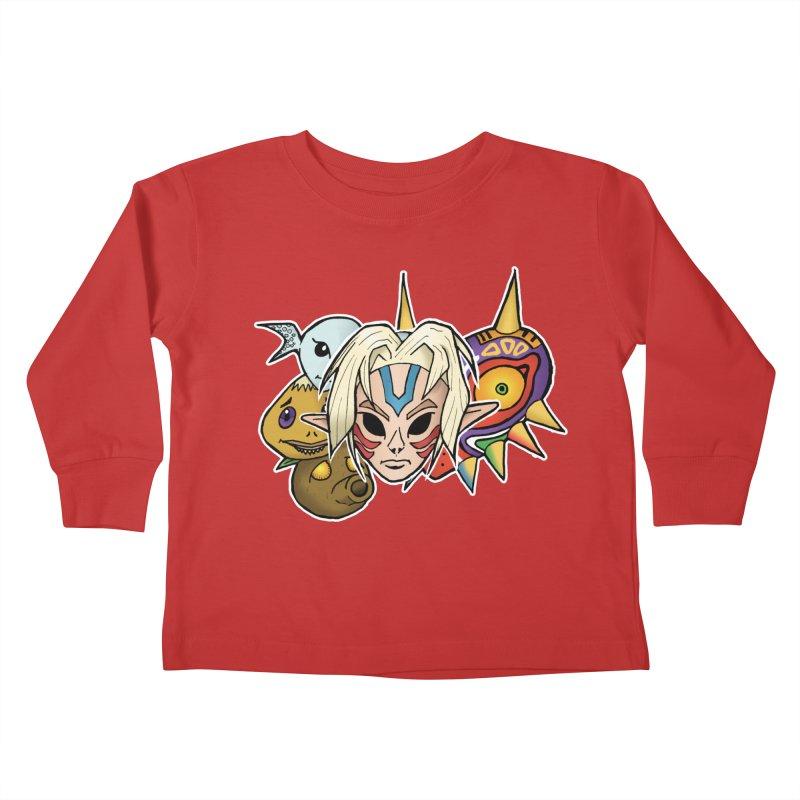The Major Masks Kids Toddler Longsleeve T-Shirt by Joel Siegel's Artist Shop