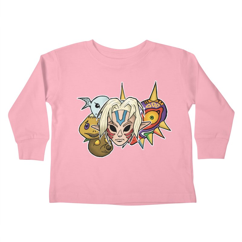 The Major Masks Kids Toddler Longsleeve T-Shirt by Joel Siegel's Artist Shop