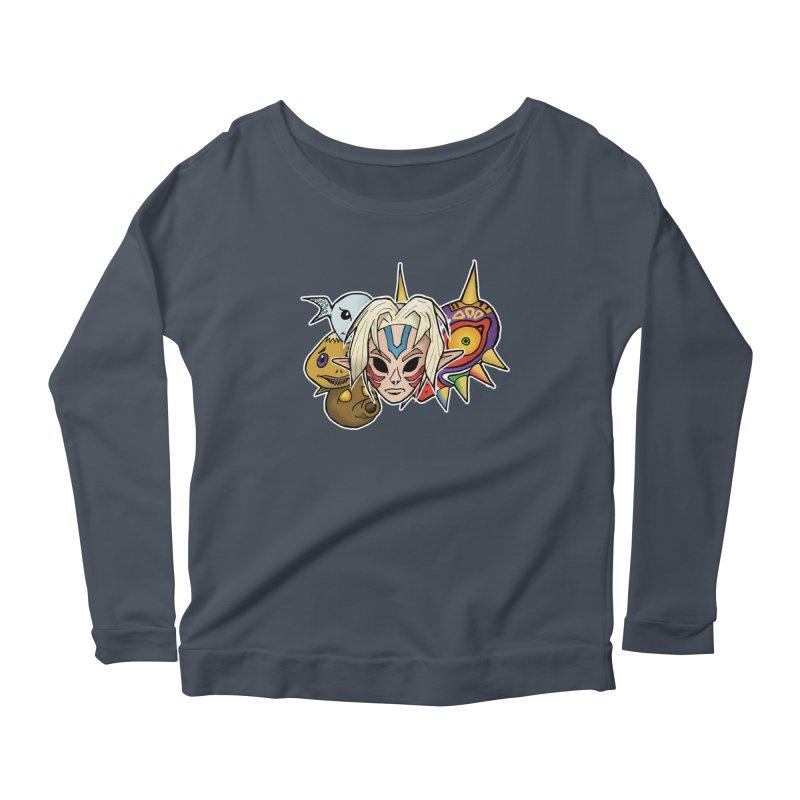 The Major Masks Women's Scoop Neck Longsleeve T-Shirt by Joel Siegel's Artist Shop