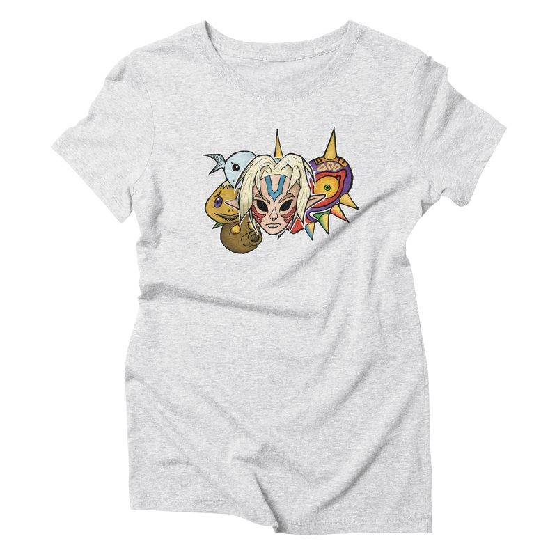 The Major Masks Women's Triblend T-Shirt by Joel Siegel's Artist Shop