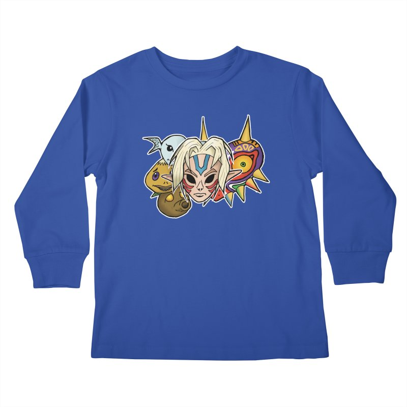 The Major Masks Kids Longsleeve T-Shirt by Joel Siegel's Artist Shop