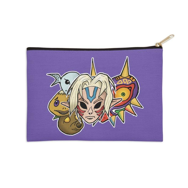 The Major Masks Accessories Zip Pouch by Joel Siegel's Artist Shop