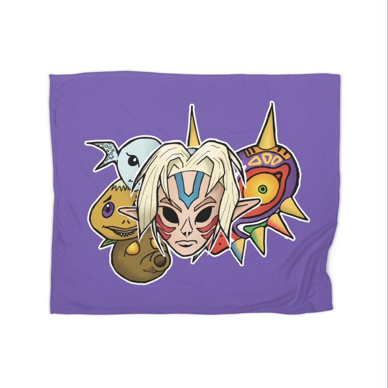 The Major Masks Home Blanket by Joel Siegel's Artist Shop