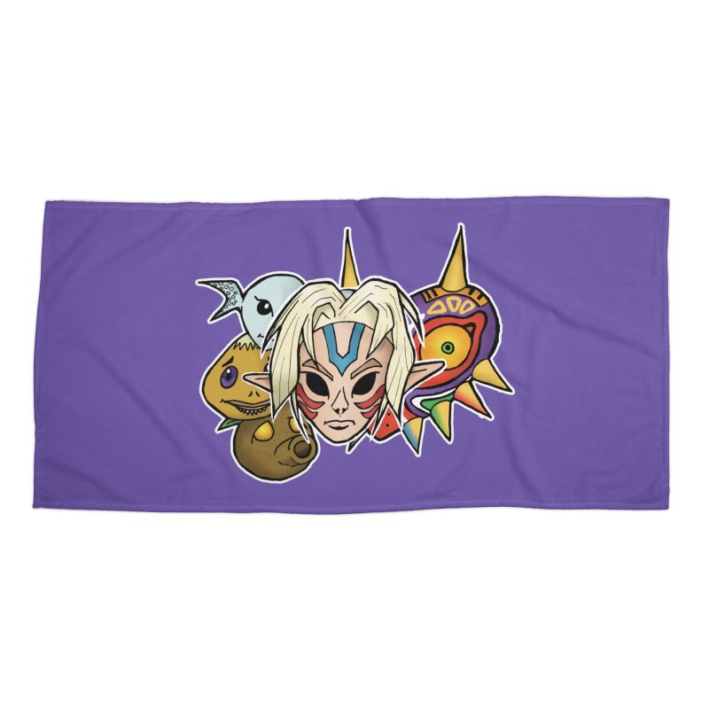 The Major Masks Accessories Beach Towel by Joel Siegel's Artist Shop