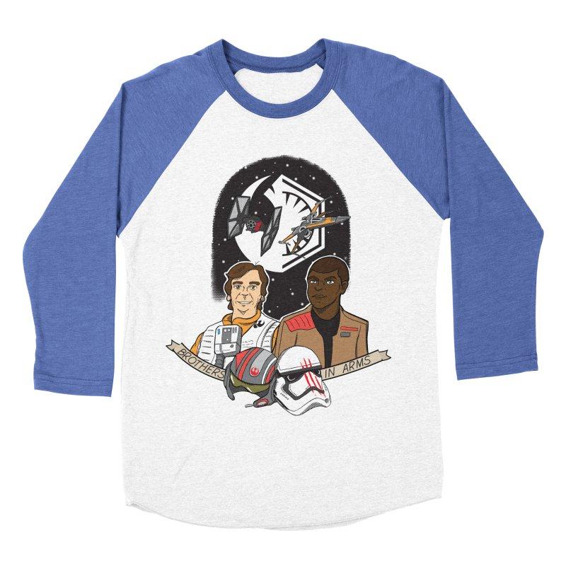 Brothers in Arms Women's Baseball Triblend T-Shirt by Joel Siegel's Artist Shop