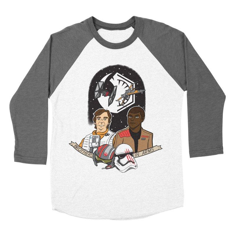 Brothers in Arms Women's Baseball Triblend Longsleeve T-Shirt by Joel Siegel's Artist Shop