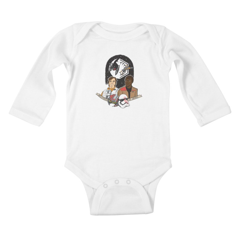Brothers in Arms Kids Baby Longsleeve Bodysuit by Joel Siegel's Artist Shop