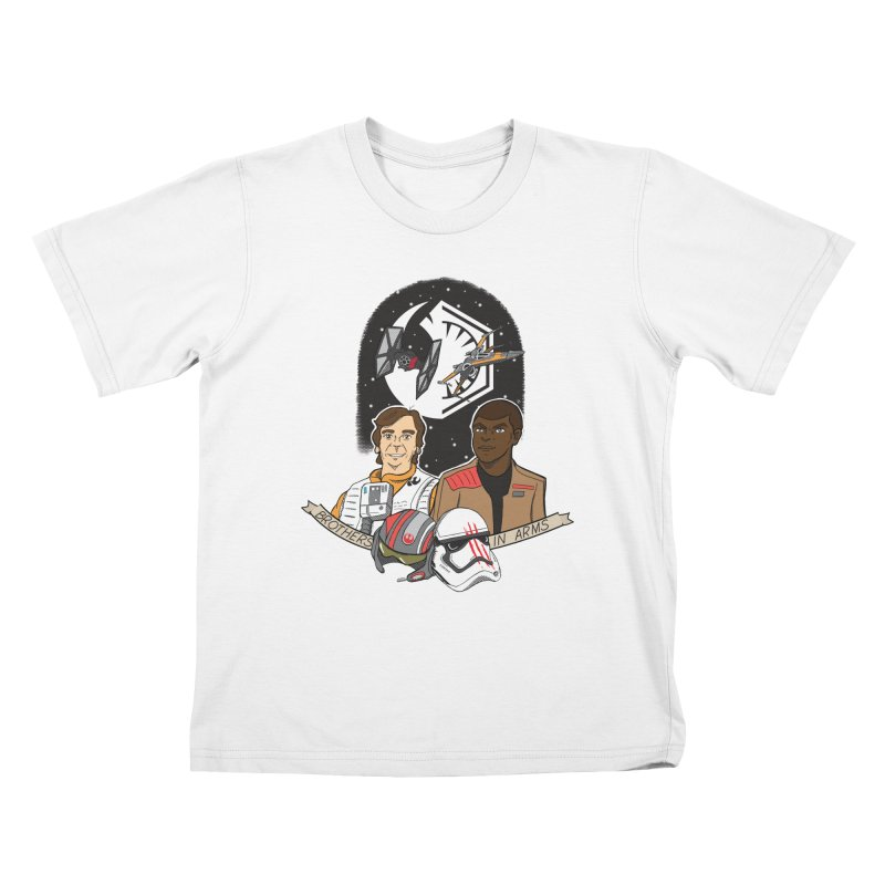 Brothers in Arms Kids T-shirt by Joel Siegel's Artist Shop