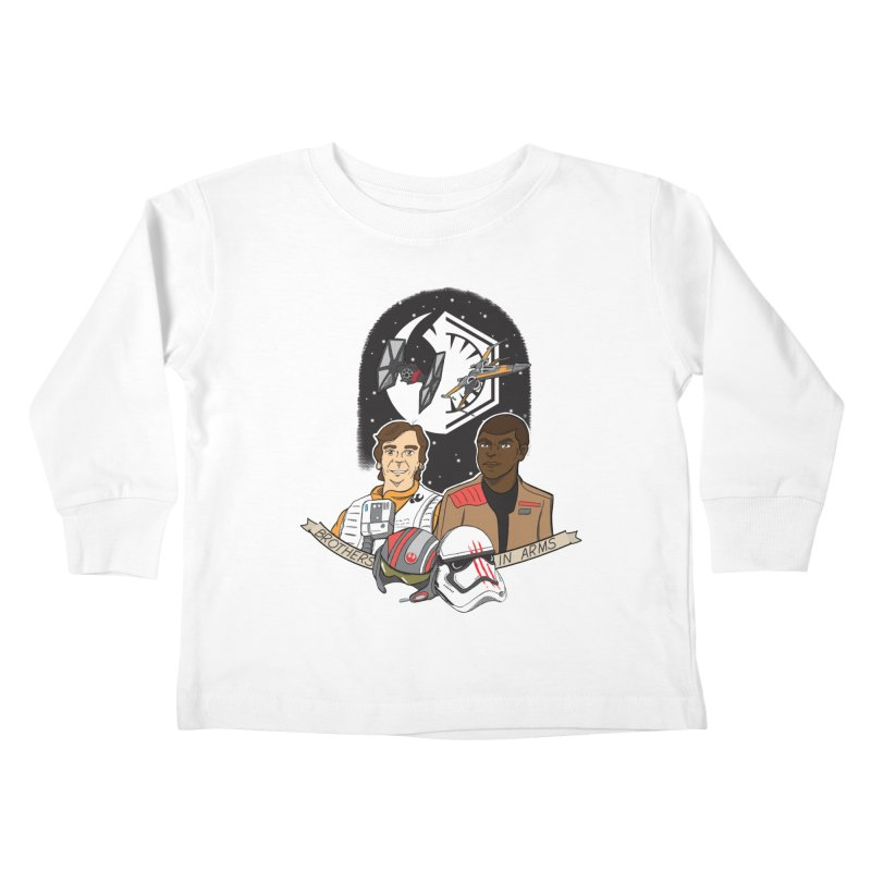 Brothers in Arms Kids Toddler Longsleeve T-Shirt by Joel Siegel's Artist Shop