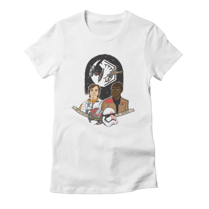 Brothers in Arms Women's Fitted T-Shirt by Joel Siegel's Artist Shop