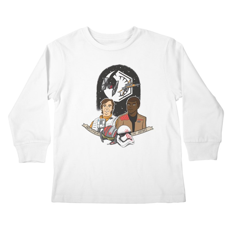 Brothers in Arms Kids Longsleeve T-Shirt by Joel Siegel's Artist Shop