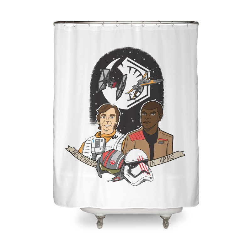 Brothers in Arms Home Shower Curtain by Joel Siegel's Artist Shop