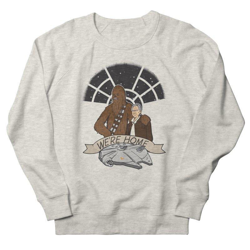 We're Home Men's French Terry Sweatshirt by Joel Siegel's Artist Shop