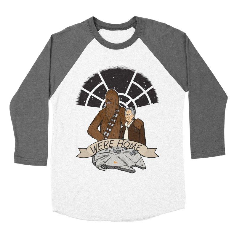 We're Home Women's Baseball Triblend T-Shirt by Joel Siegel's Artist Shop
