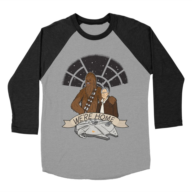 We're Home Men's Baseball Triblend Longsleeve T-Shirt by Joel Siegel's Artist Shop