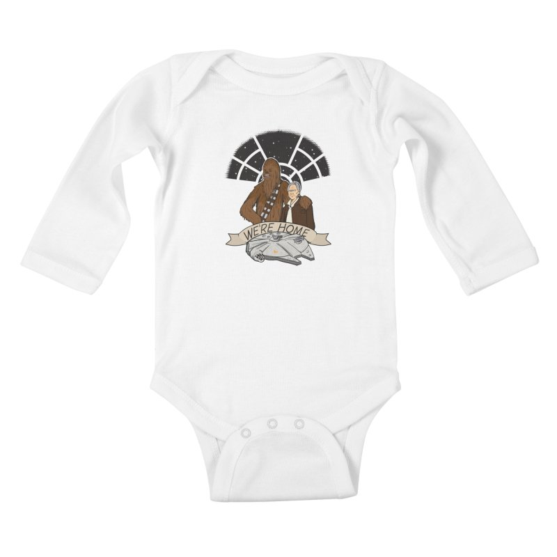We're Home Kids Baby Longsleeve Bodysuit by Joel Siegel's Artist Shop