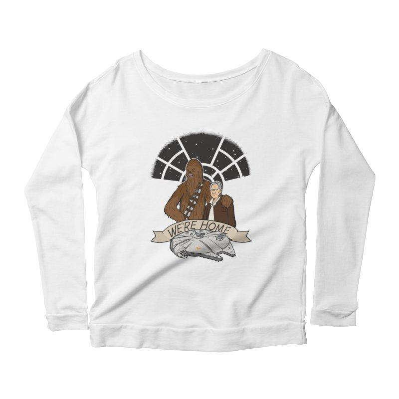 We're Home Women's Scoop Neck Longsleeve T-Shirt by Joel Siegel's Artist Shop