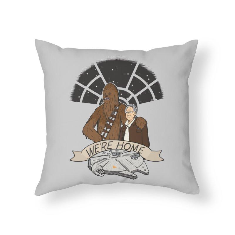 We're Home Home Throw Pillow by Joel Siegel's Artist Shop