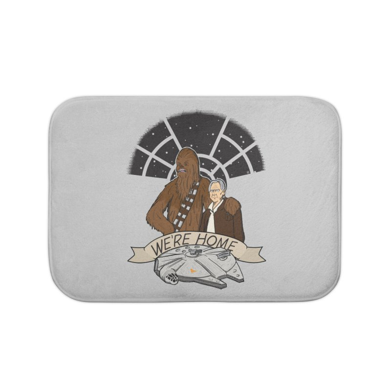 We're Home Home Bath Mat by Joel Siegel's Artist Shop