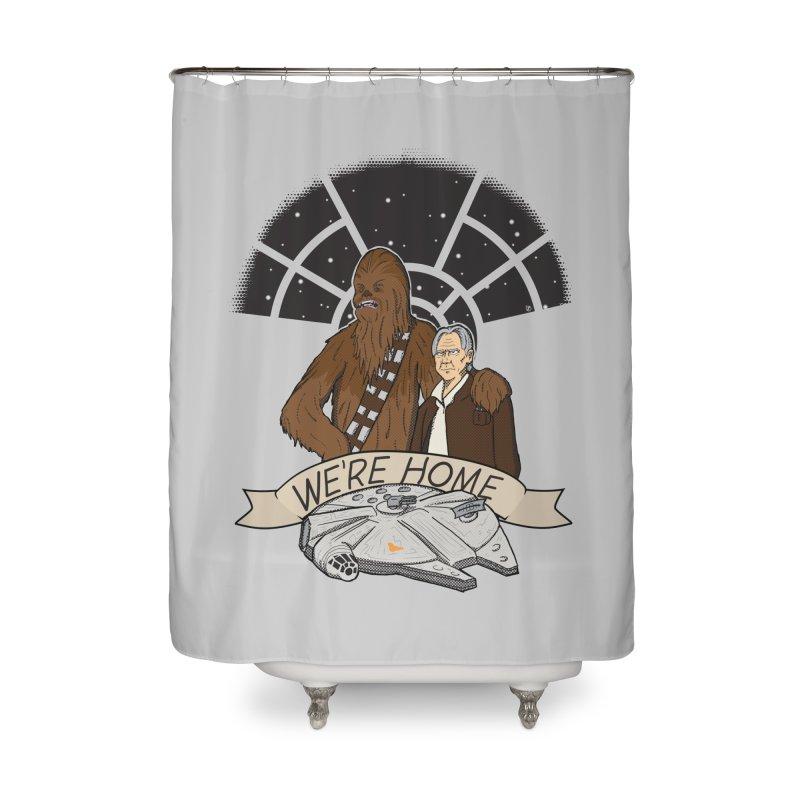 We're Home Home Shower Curtain by Joel Siegel's Artist Shop