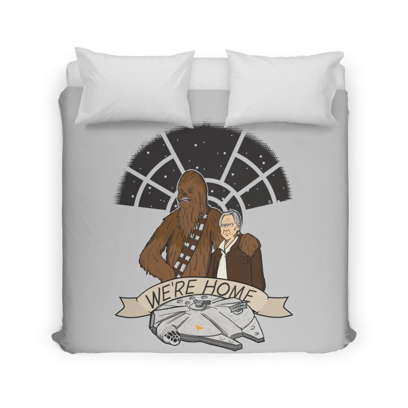 We're Home Home Duvet by Joel Siegel's Artist Shop