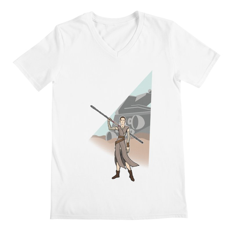 Rey of Hope Men's Regular V-Neck by Joel Siegel's Artist Shop