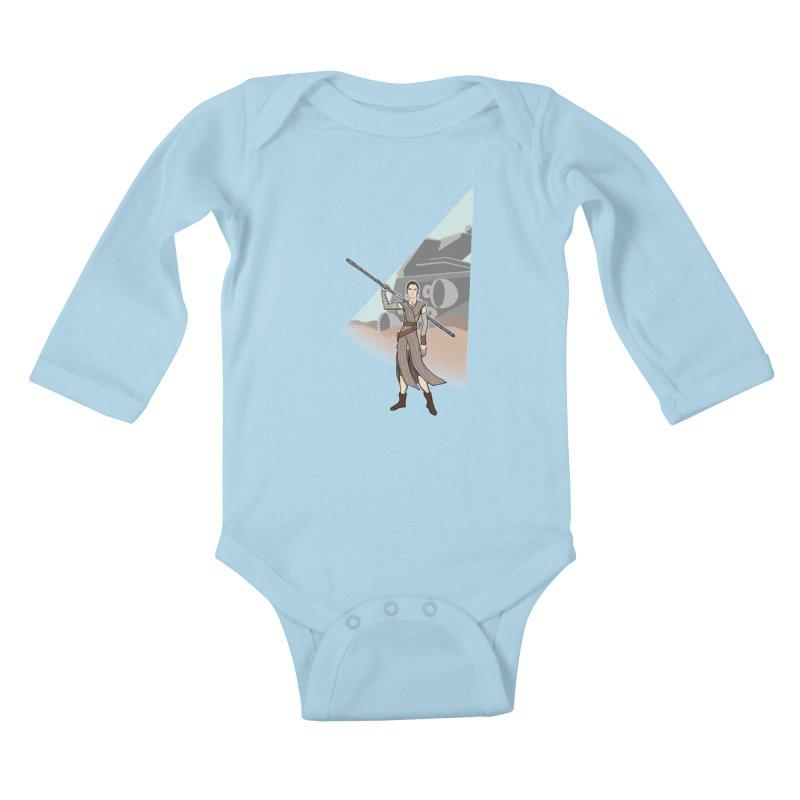 Rey of Hope Kids Baby Longsleeve Bodysuit by Joel Siegel's Artist Shop