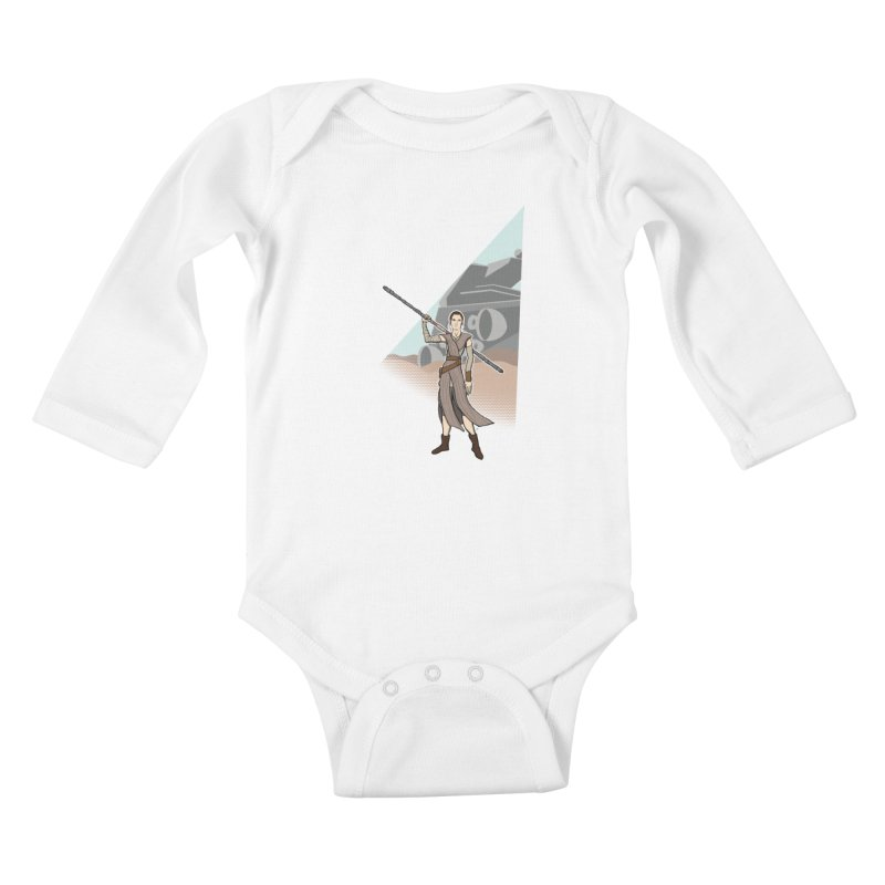 Rey of Hope Kids Baby Longsleeve Bodysuit by Joel Siegel's Artist Shop