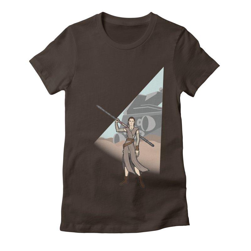 Rey of Hope Women's Fitted T-Shirt by Joel Siegel's Artist Shop