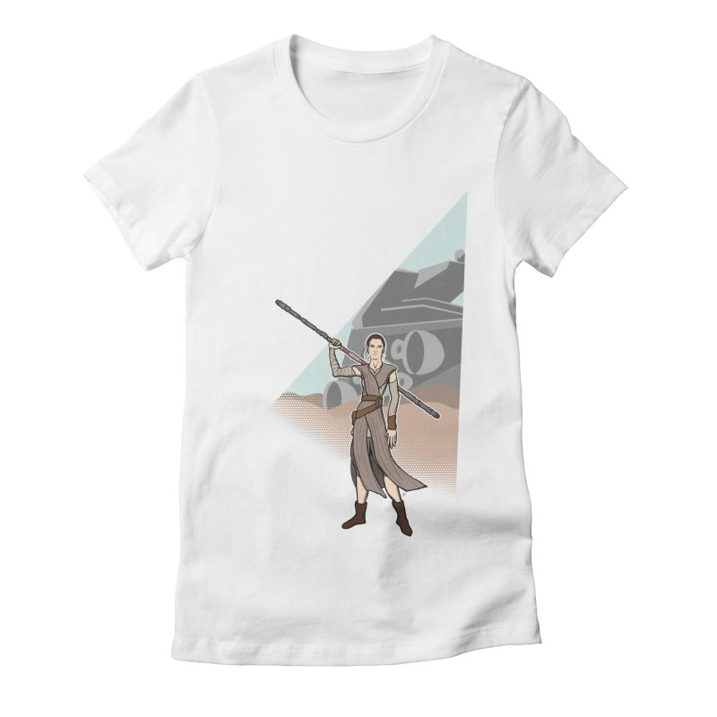 Rey of Hope Women's Fitted T-Shirt by Joel Siegel's Artist Shop