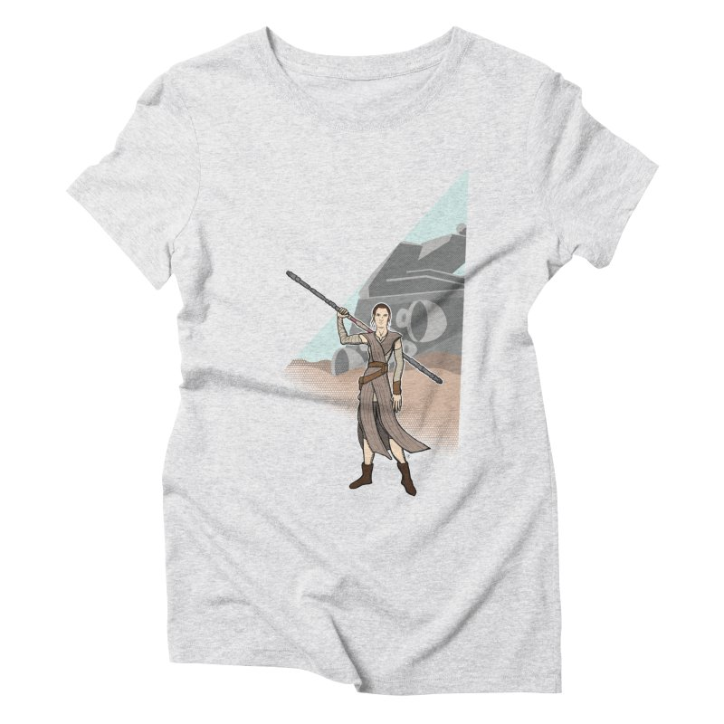 Rey of Hope Women's Triblend T-Shirt by Joel Siegel's Artist Shop