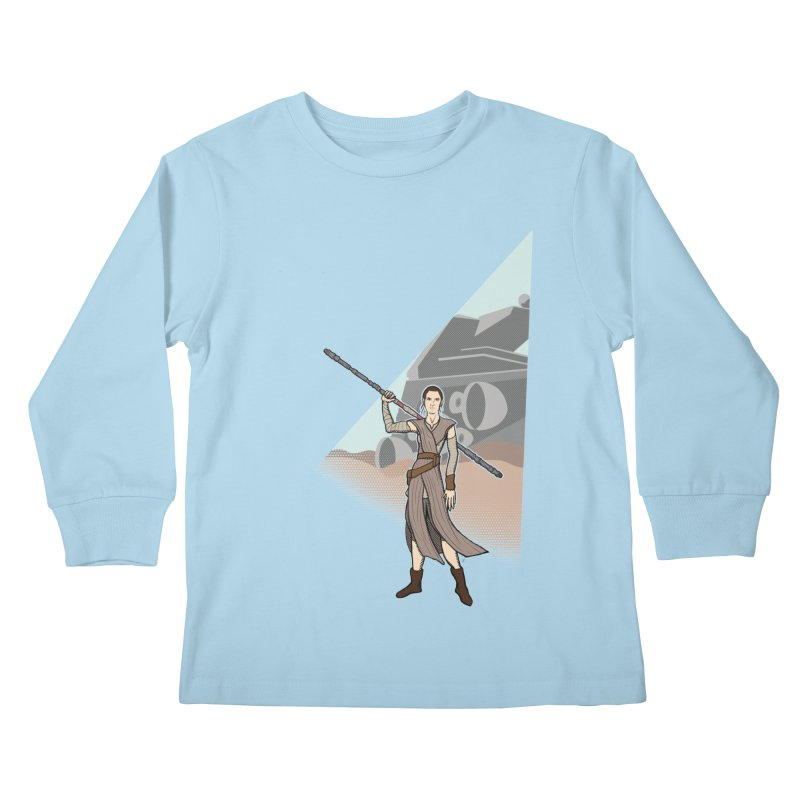 Rey of Hope Kids Longsleeve T-Shirt by Joel Siegel's Artist Shop