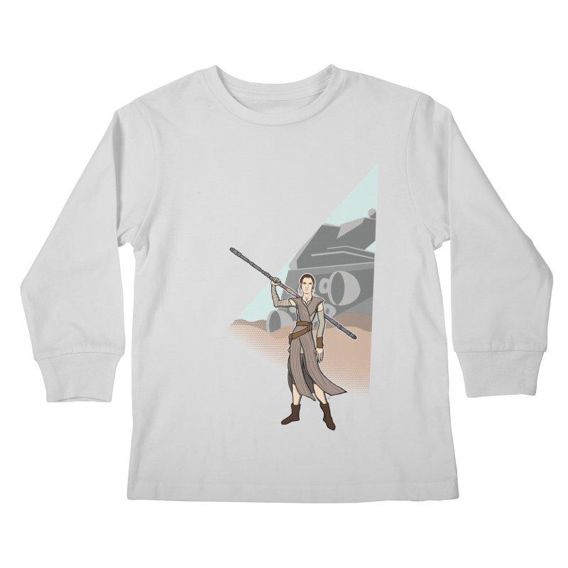 Rey of Hope Kids Longsleeve T-Shirt by Joel Siegel's Artist Shop