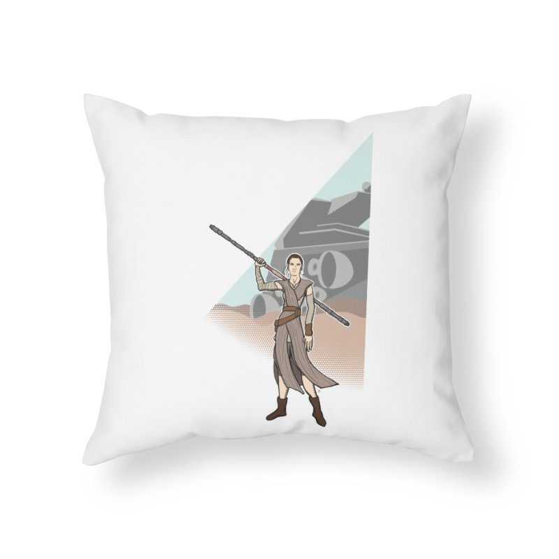 Rey of Hope Home Throw Pillow by Joel Siegel's Artist Shop