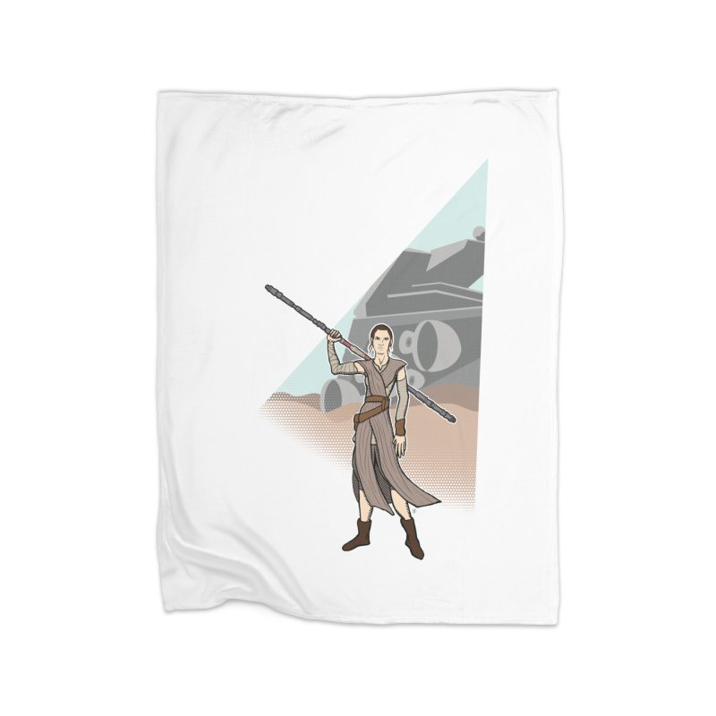Rey of Hope Home Fleece Blanket Blanket by Joel Siegel's Artist Shop