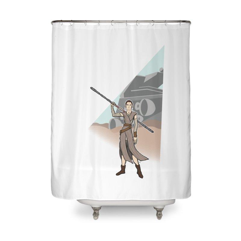 Rey of Hope Home Shower Curtain by Joel Siegel's Artist Shop