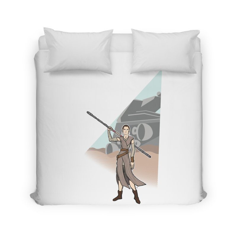 Rey of Hope Home Duvet by Joel Siegel's Artist Shop