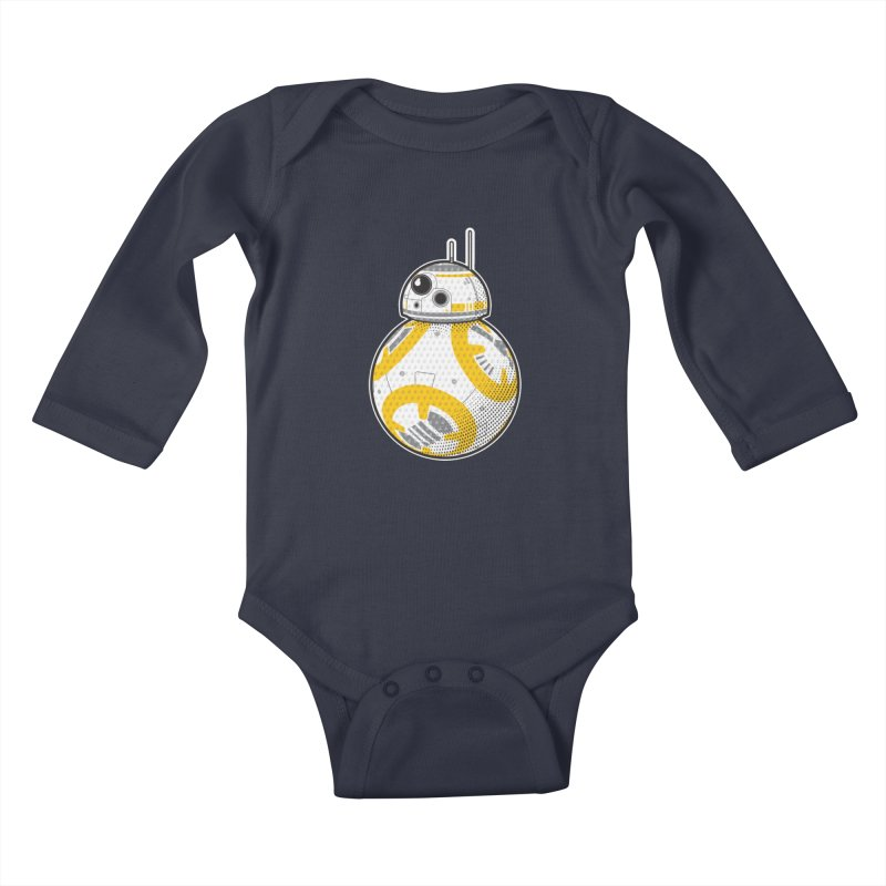 Meta BB-8 Kids Baby Longsleeve Bodysuit by Joel Siegel's Artist Shop