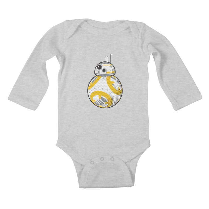 Meta BB-8 Kids Baby Longsleeve Bodysuit by Joel Siegel's Artist Shop