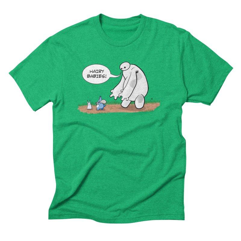 Hairy Babies Men's Triblend T-Shirt by Joel Siegel's Artist Shop