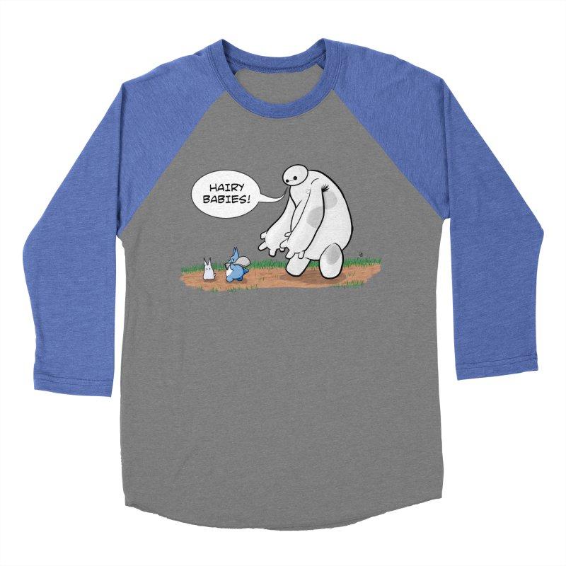Hairy Babies Women's Baseball Triblend Longsleeve T-Shirt by Joel Siegel's Artist Shop