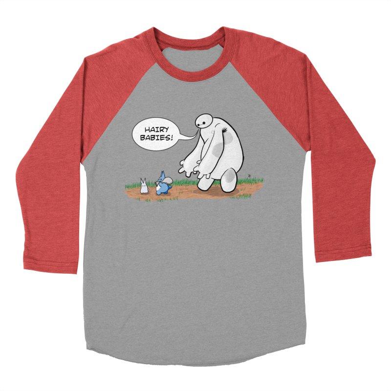 Hairy Babies Women's Baseball Triblend T-Shirt by Joel Siegel's Artist Shop