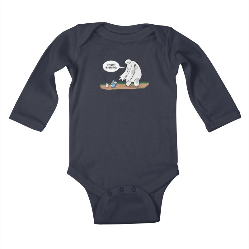 Hairy Babies Kids Baby Longsleeve Bodysuit by Joel Siegel's Artist Shop