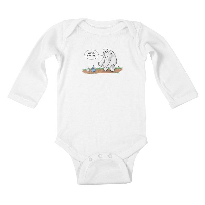 Hairy Babies Kids Baby Longsleeve Bodysuit by Joel Siegel's Artist Shop