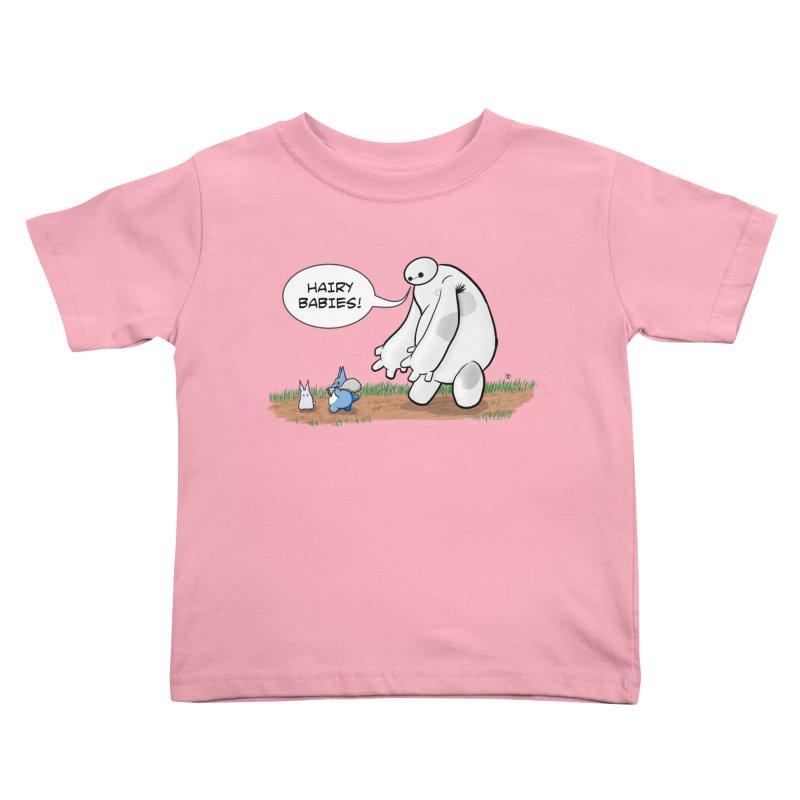 Hairy Babies Kids Toddler T-Shirt by Joel Siegel's Artist Shop